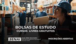 BOLSA DE ESTUDO INTEGRAL PARA CURSOS LIVRES
